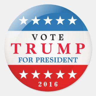 Triunfo del voto para la elección del presidente pegatina redonda