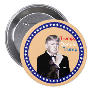 Triunfo, Donald Trump Pin Redondo De 3 Pulgadas