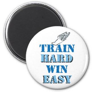 Triunfo duro del tren fácil - atletismo imán de nevera