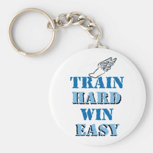 Triunfo duro del tren fácil - atletismo llaveros personalizados