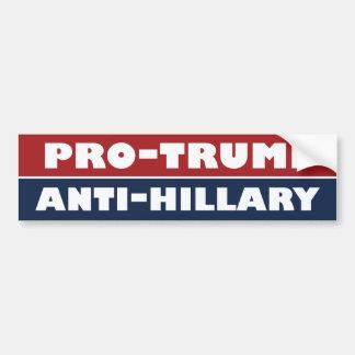 Triunfo el parachoque de Anti-Hillary - .png Pegatina Para Auto