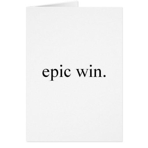 triunfo épico felicitacion
