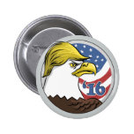 Triunfo este Eagle no tan calvo Pin Redondo De 2 Pulgadas
