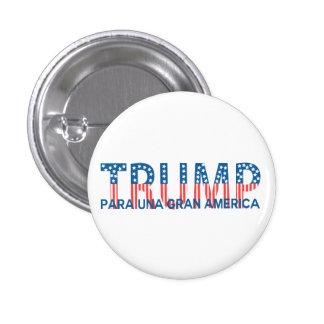 Triunfo, gran América del una de para Pin Redondo De 1 Pulgada