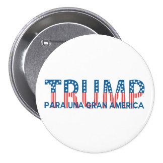 Triunfo, gran América del una de para Pin Redondo De 3 Pulgadas