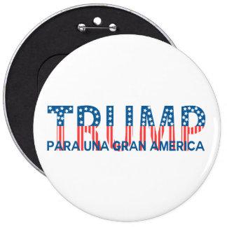 Triunfo, gran América del una de para Pin Redondo De 6 Pulgadas