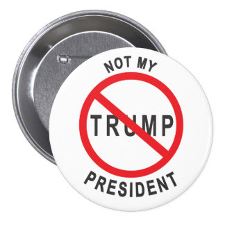 Triunfo - no mi presidente Button Pin Redondo De 3 Pulgadas