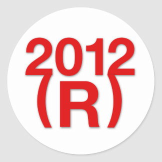 Triunfo republicano en 2012 pegatina redonda