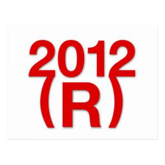 Triunfo republicano en 2012 postal