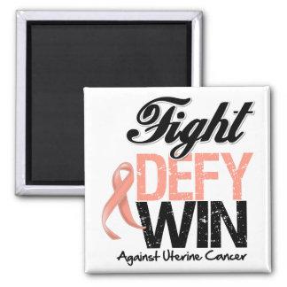Triunfo uterino del desafio de la lucha del cáncer imán cuadrado