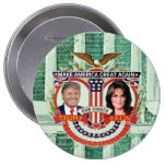 Triunfo y Palin en 2016 Pin Redondo De 4 Pulgadas