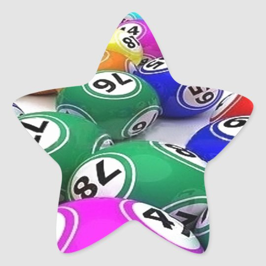 triunfos de la loteria pegatina en forma de estrella