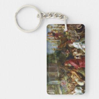 Triunfos de la pintura de César Peter Paul Rubens Llavero Rectangular Acrílico A Doble Cara