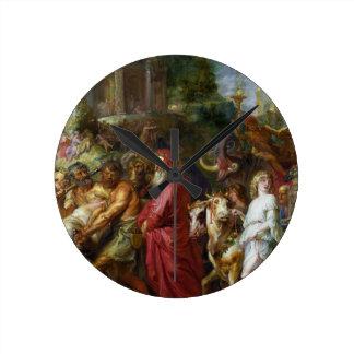 Triunfos de la pintura de César Peter Paul Rubens Relojes De Pared