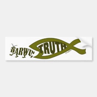 Triunfos de la verdad pegatina de parachoque