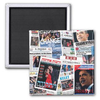 Triunfos de Obama - el International pone título Imán Cuadrado