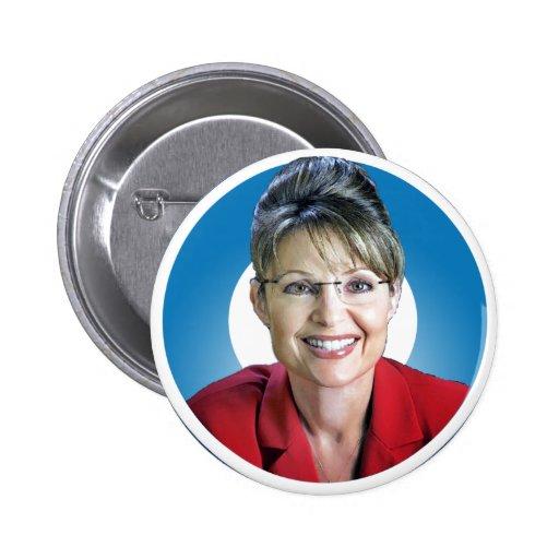 Triunfos de Sarah Palin el 'O Pin Redondo De 2 Pulgadas