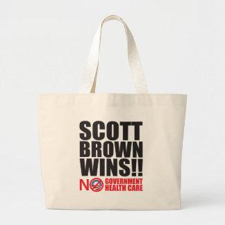 ¡Triunfos de Scott Brown! Bolsas