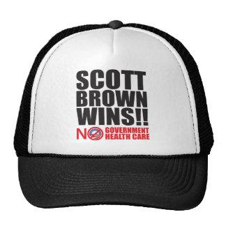 ¡Triunfos de Scott Brown! Gorra