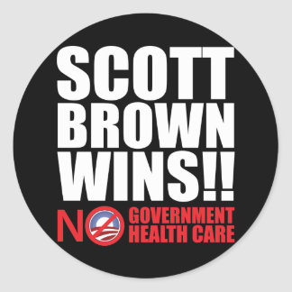 ¡Triunfos de Scott Brown! Pegatina Redonda