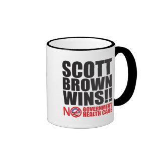 ¡Triunfos de Scott Brown! Taza A Dos Colores
