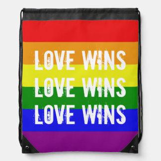 Triunfos del amor - bandera del arco iris de la mochilas