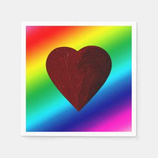 ¡TRIUNFOS DEL AMOR! (~ del corazón del arco iris) Servilletas Desechables
