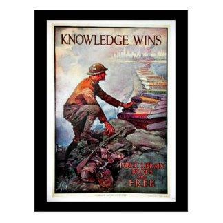 Triunfos del conocimiento tarjetas postales