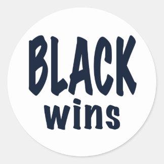 Triunfos del negro, triunfos de Obama Etiquetas Redondas