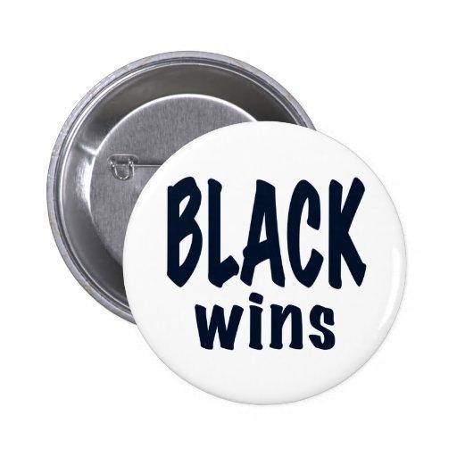 Triunfos del negro, triunfos de Obama Pins