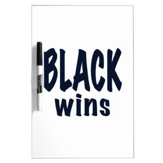 Triunfos del negro triunfos de Obama Tablero Blanco