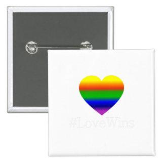 ¡Triunfos gay del amor! Pin Cuadrado