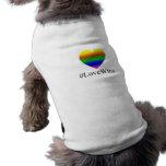 ¡Triunfos gay del amor! Playera Sin Mangas Para Perro