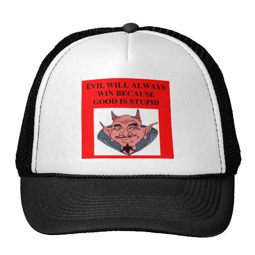 triunfos malvados sobre bueno gorras de camionero