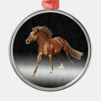 Triuphant Horse Metal Ornament
