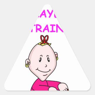 trivia baby triangle sticker