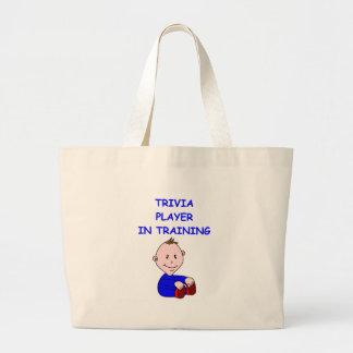 trivia canvas bag