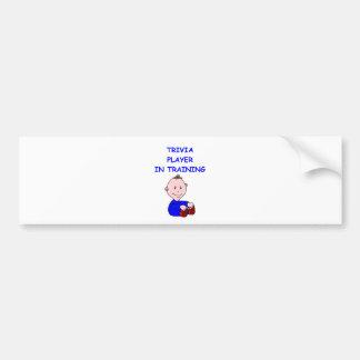trivia bumper sticker