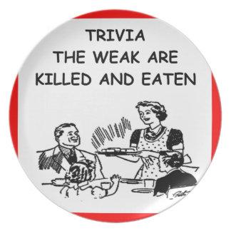 trivia party plates
