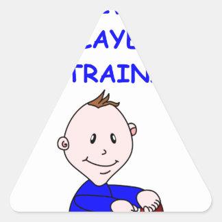 trivia triangle sticker