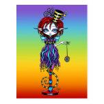 Trixy Pixie Stick Sideshow Circus Fairy Postcard
