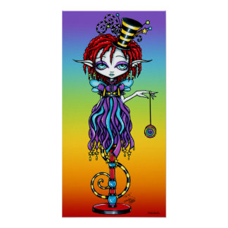 Trixy Pixie Stick Sideshow Circus Fairy Poster