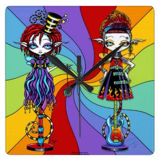 Trixy Roxsy Rainbow Pixie Stick Freaks Clock