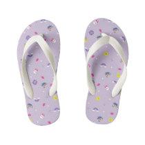 TRK - Purple Pattern Kid's Flip Flops