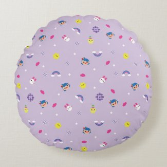 TRK - Purple Pattern Round Pillow