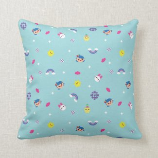 TRK - Teal Pattern Throw Pillow