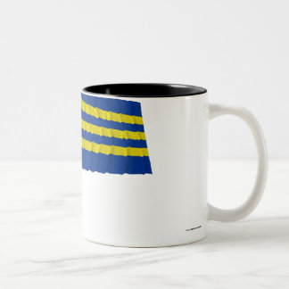 Trnava Waving Flag Two-Tone Coffee Mug