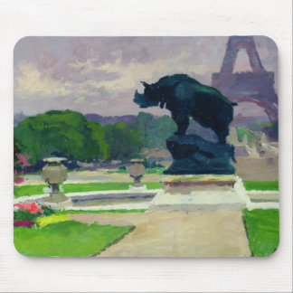 Trocadero Gardens and Rhinoceros by Jacquemart Mouse Pad