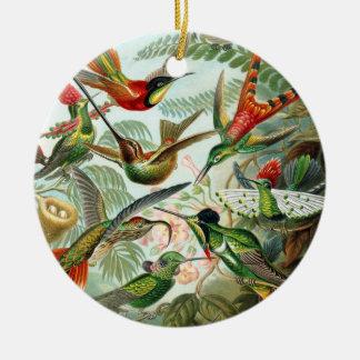 Trochilidae Hummingbirds, Ernst Haeckel Double-Sided Ceramic Round Christmas Ornament