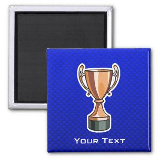 Trofeo; Azul Imán De Frigorifico